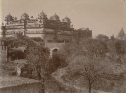 General view from the north-east Jahangir Mandir Palace, Orchha